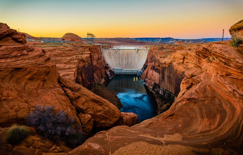 Glen Canyon Dam at Dusk